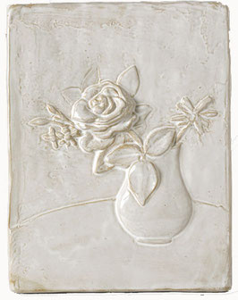 Still Life with Rose - wall plaque