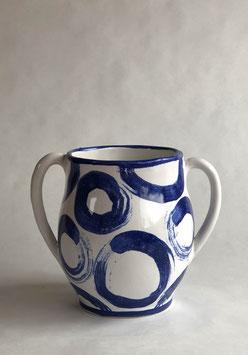 Vase -blue circle #1