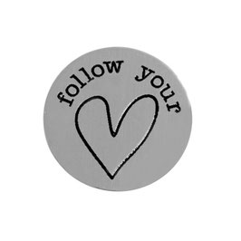 """follow your heart "" INLAY PLATE"