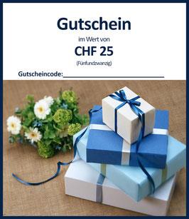 WERTGUTSCHEIN CHF 25 / A