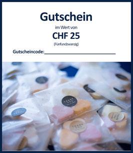 WERTGUTSCHEIN CHF 25 / B