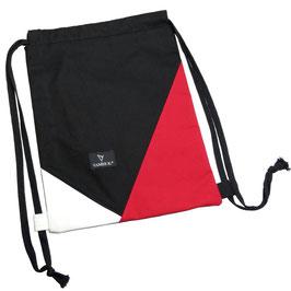 HIPSTER GYM BAG (schwarz/rot/weiss)