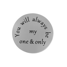 """You will always be my one & only"" INLAY PLATE"