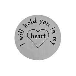 """I will hold you in my heart"" INLAY PLATE"