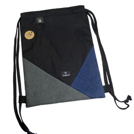 HIPSTER GYM BAG (schwarz/grau/blau)
