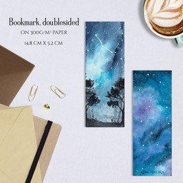 BOOKMARK - Blue Galaxy