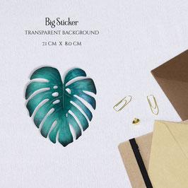 BIG STICKER - Monstera Leaf