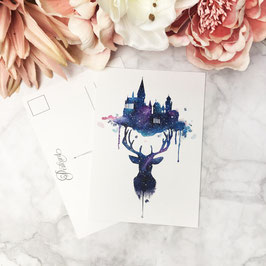 POSTCARD - Always Deer