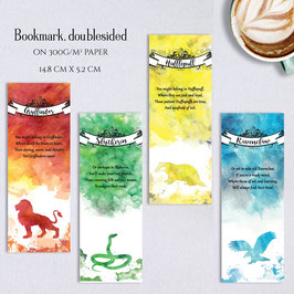 BOOKMARK - Houses for the Brave, Cunning, Wit and Loyal