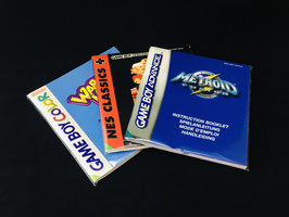 Nintendo Game Boy Color / Game Boy Advance (LRG) - Instruction Manual Sleeves