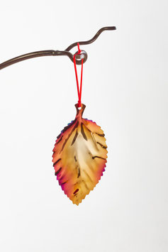 Small Beech Leaf- Christmas decoration and home accessory in colourful stainless steel