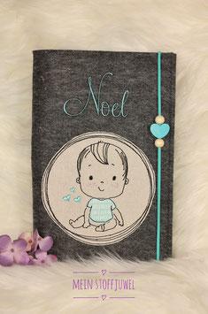 personalisierte U-hefthülle Babyjunge Bsp. Noel