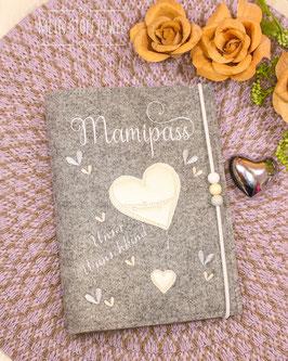 Mutterpasshülle Mamipass, Herz perlmutt Bsp. Sabrina´s Wunschkind