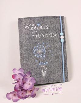 Mutterpasshülle Pusteblume Kleines Wunder weiß und hellblau