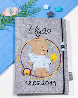 U-hefthülle Bärchen mit Regenbogen Bsp Elyas mit Geburtsdatum