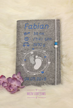 Personalisierte U-hefthülle Kreiselfuß Beispiel Fabian