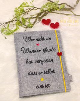 Mutterpasshülle Wunschhülle Wunder Herz/Stern