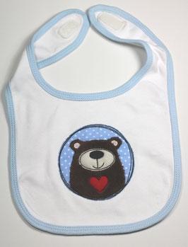 Babylätzchen Bär Herz