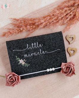 Mutterpasshülle little miracle romantic, dunkler Filz