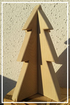 Tannenbaum doppelt ( 2- teilig zum Zusammenstecken)