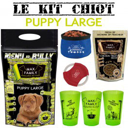 Kit chiot PUPPY Large - BULLY MAX By Max Family Pet Food
