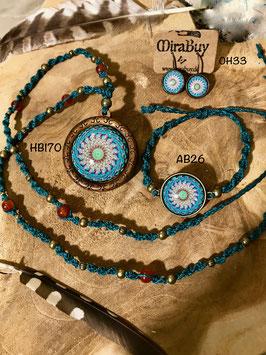 """Halskette """"Blue Mandala"""""""