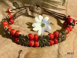 Armband Bronzeblüten AB 20