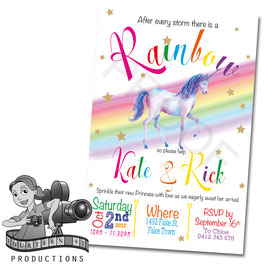 Baby Shower/Sprinkle Unicorn  Invites