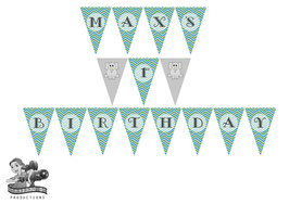 Bunting Banner: Elephant, Digital Pdf File