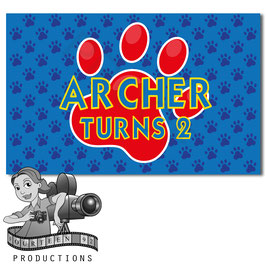Banner - Blue, Red, Yellow Paw Print