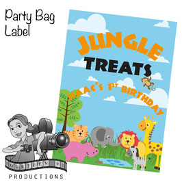 Jungle Animals; Party Bag Labels