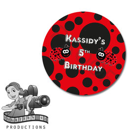 Ladybug; Circle stickers/tags
