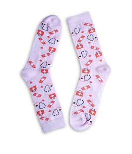 Sokken met medische print, verpleegkundige sokken