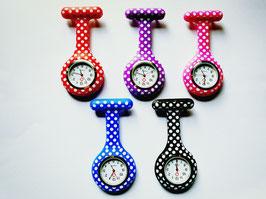 Verpleegkundige horloge met stippen