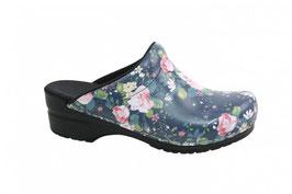 Sanita klompen Flod blauw 472047 (met bloemen)