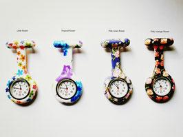 Verpleegkundig horloge met bloemen