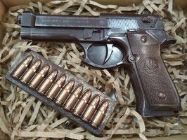 """АКЦИЯ! Большой пистолет с обоймой. """"Суровый Сибирский шоколад для Настоящих Мужчин"""""""