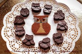Набор из 3-х конфет: милые совушки