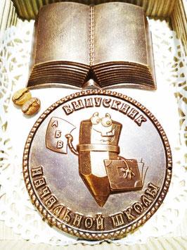 Шоколадная медаль с книгой