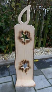 Deko Kerze aus Rindenholz