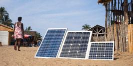Mini zonnepaneel 250 watt met batterijen