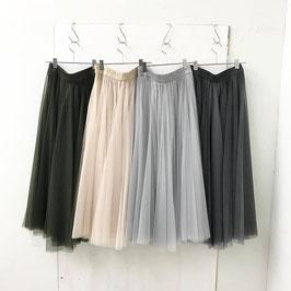 チュール ボリューム ギャザ ロング スカート ¥6900