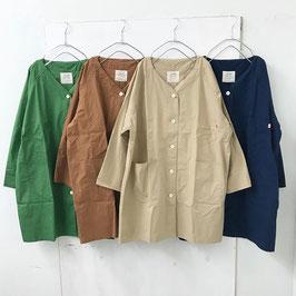 ダンプ ラグラン ノーカラー ワイド カバーオール ¥4900