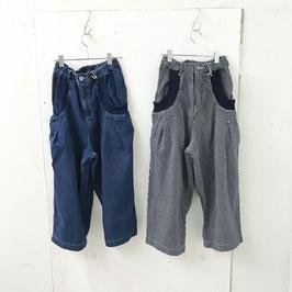 デニム BIGリブポケット ルーズ パンツ ¥5900