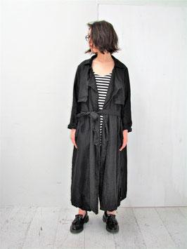 商品名:リネンツイル トレンチ コート「ブラック」※入荷待ち(8末予定)