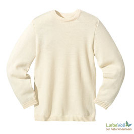 Basic-Pullover, natur, Merinoschurwolle, von disana made in Germany
