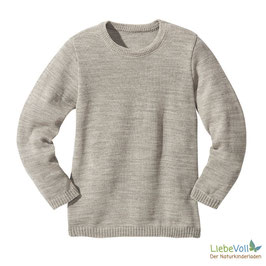 Basic-Pullover, grau, Merinoschurwolle, von disana made in Germany