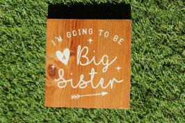 Panneau carré Big Sister