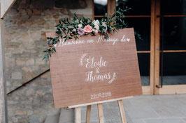 "Panneau d'accueil Bienvenue ""Elodie"""