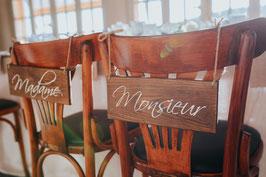 Dossiers de chaise Mr & Mme